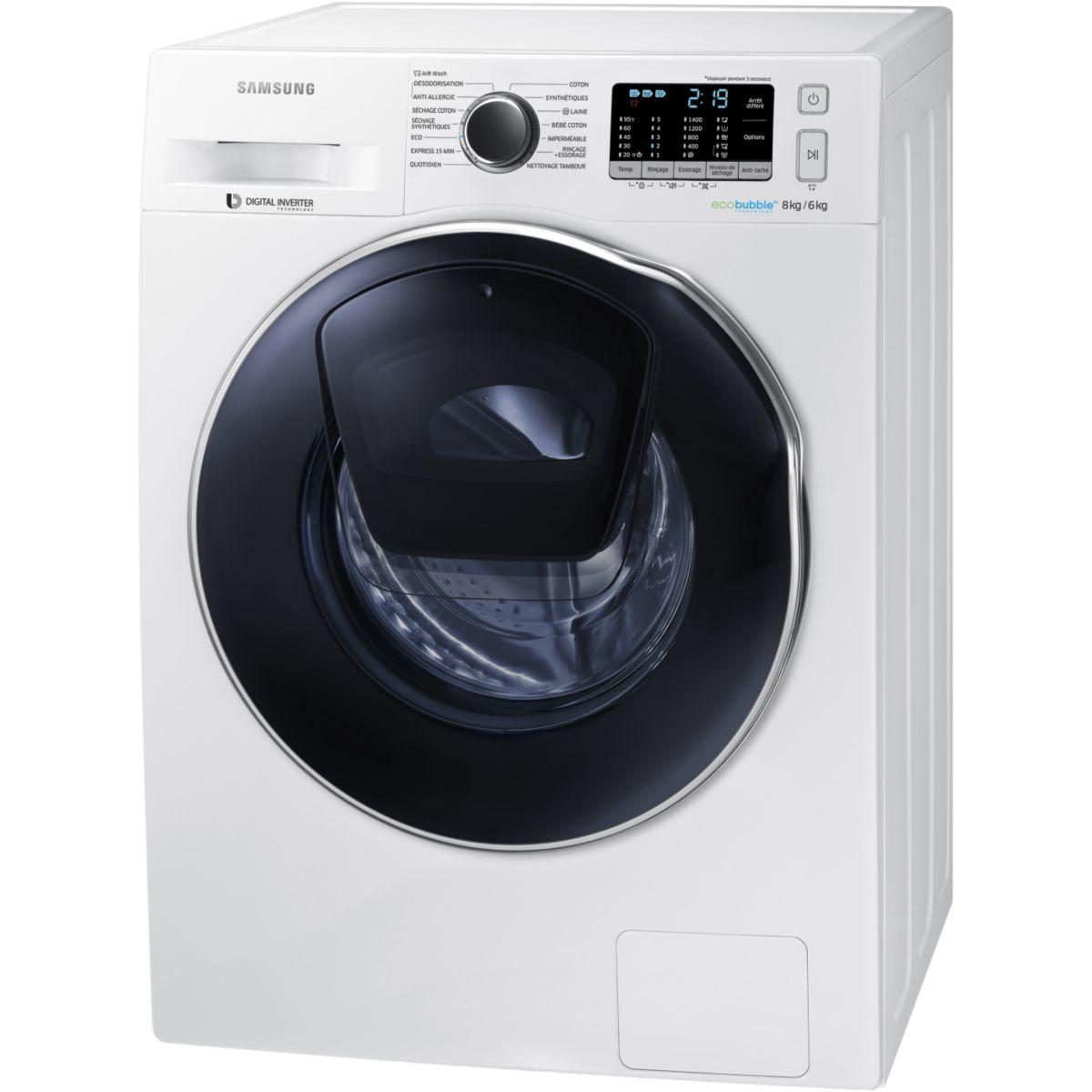 lave linge s chant frontal samsung add wash wd80k5410ow ef. Black Bedroom Furniture Sets. Home Design Ideas