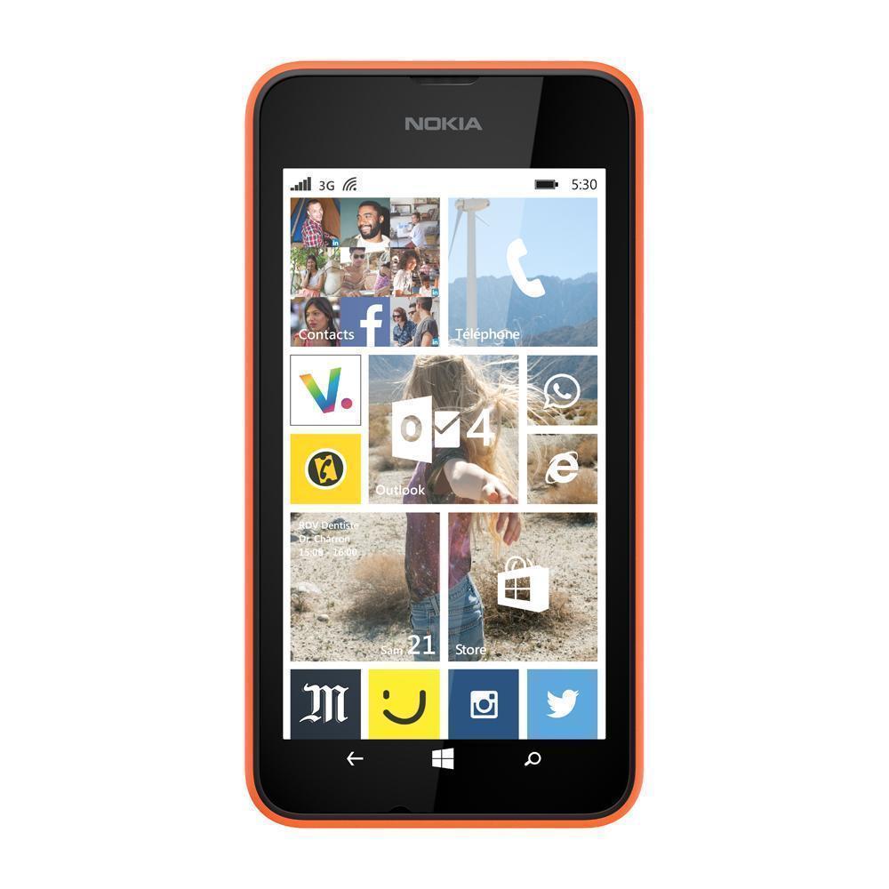 Nokia Lumia 530 4 Go - Orange - Débloqué