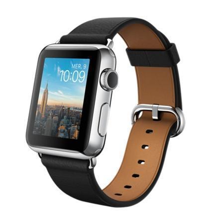 Apple Watch 42 mm - Aluminium Argent - Bracelet Boucle Classique noir