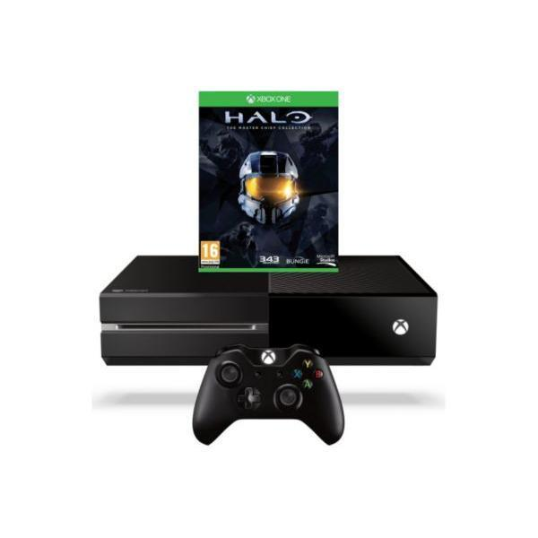 Pack - Microsoft Xbox One + Halo The Masterchief Collection - Noir