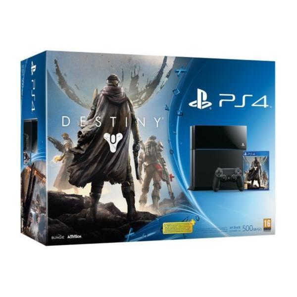 Pack - Sony PS4 500 Go + Destiny - Noir