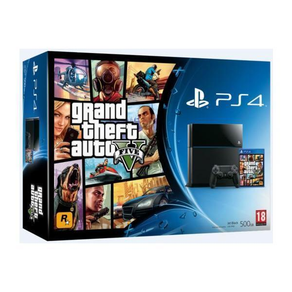 Pack - Sony PS4 500 Go + GTA 5 - Noir