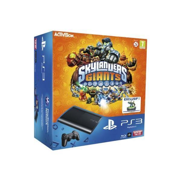 Pack - Sony PS3 12 Go + Skylanders Giants + Portail - Noir