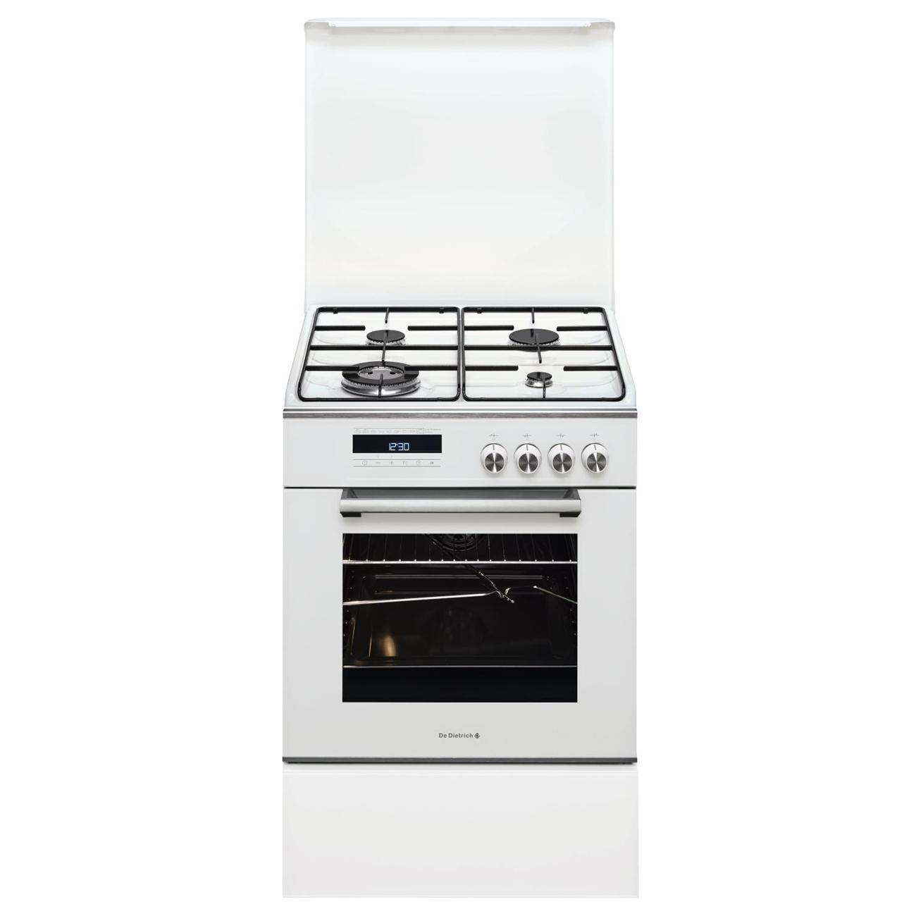 Cuisinière 4 feux gaz - Four 55L - Classe A - Blanche - DCM1550W
