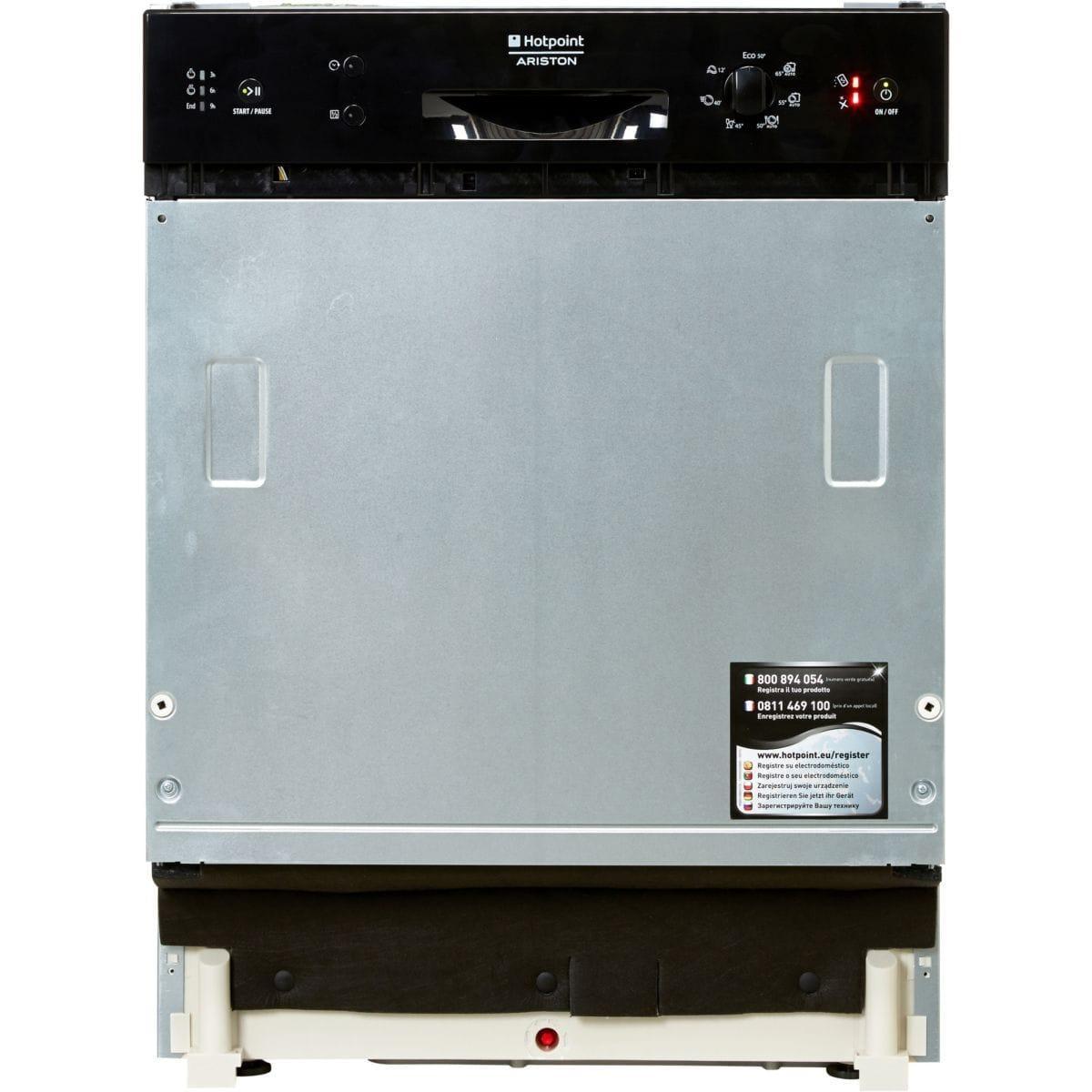 lave vaisselle encastrable 60 cm hotpoint lsb7m121beu 14. Black Bedroom Furniture Sets. Home Design Ideas