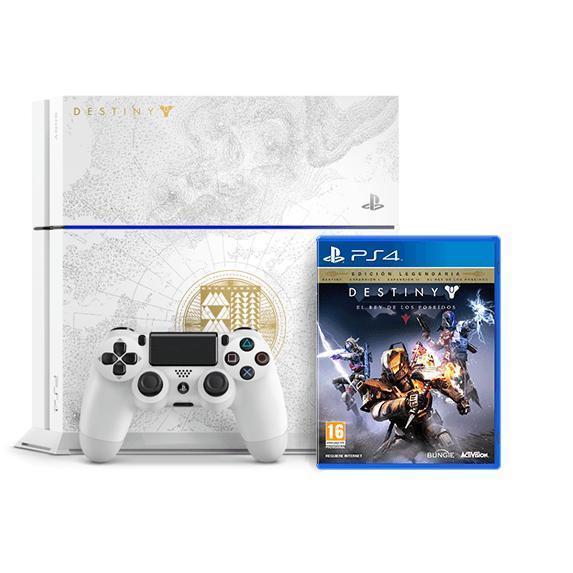 Sony PS4 Edición Limitada 500 GB + Juego Destiny El Rey de los Poseídos - Blanco