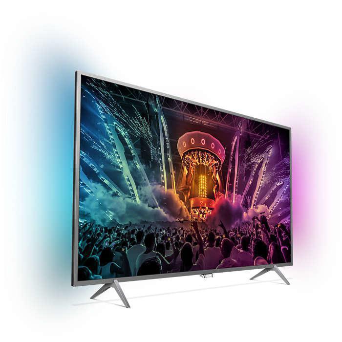 Smart TV LED 4K Ultra HD 123 cm Philips 49PUS6401/12