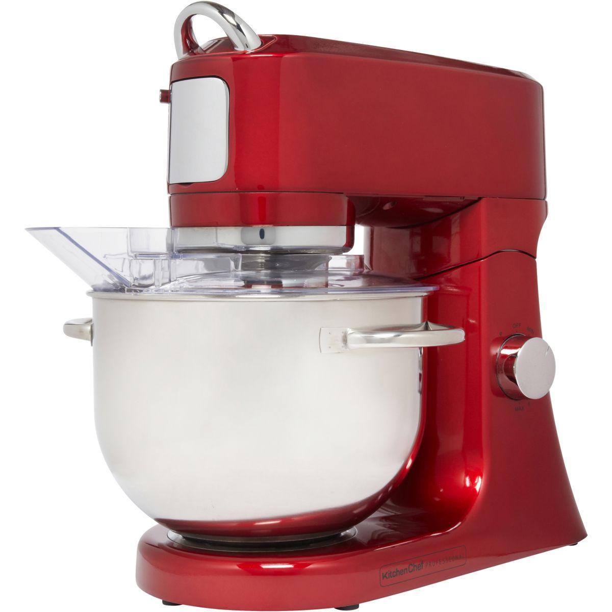 Robot pâtissier sur socle KitchenChef EF706BR - Rouge