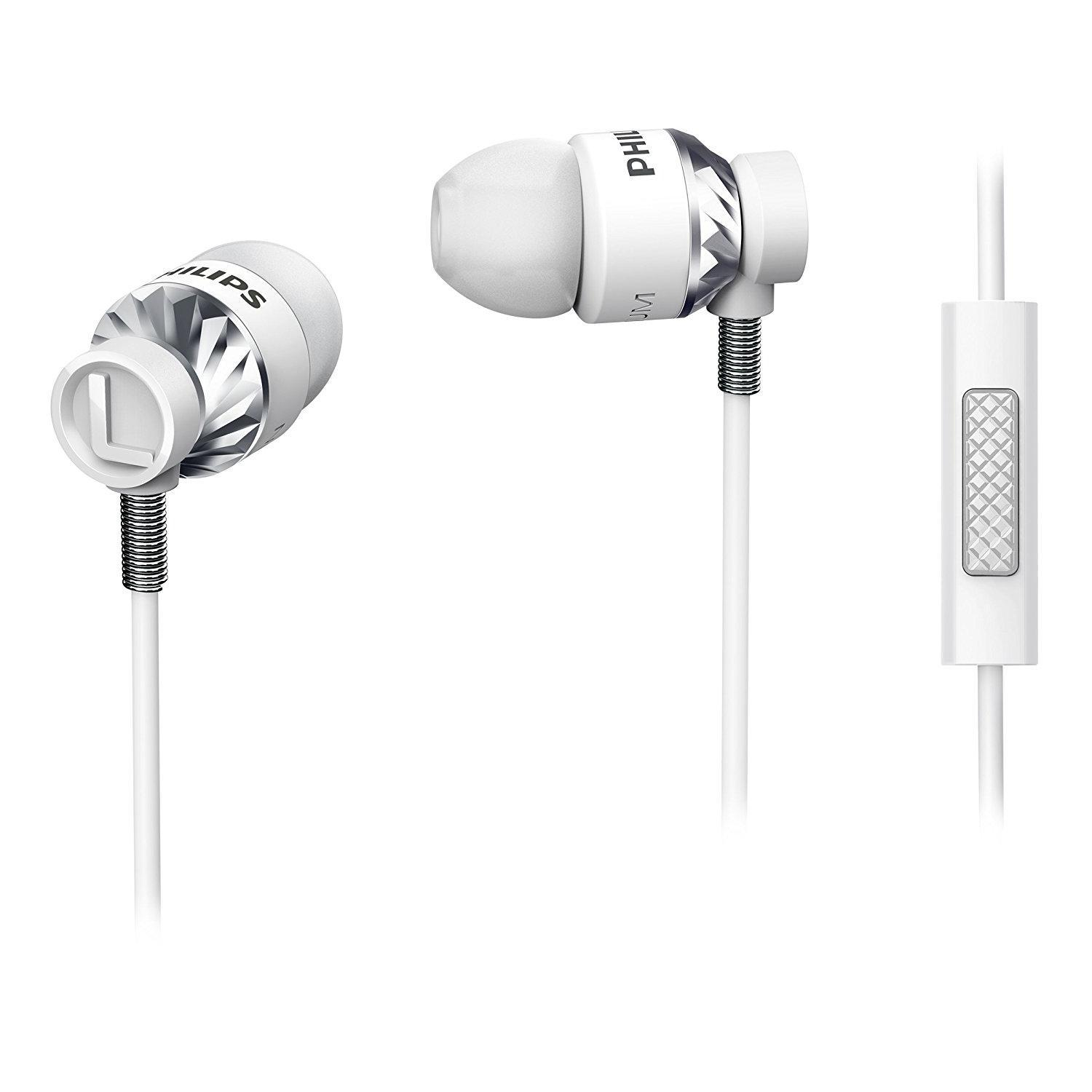 Ecouteurs intra-auriculaires avec micro Philips SHE5305WT/00