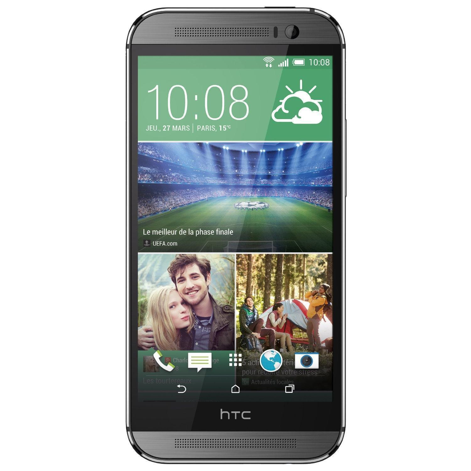 HTC One M8 16 GB - Grau - Orange