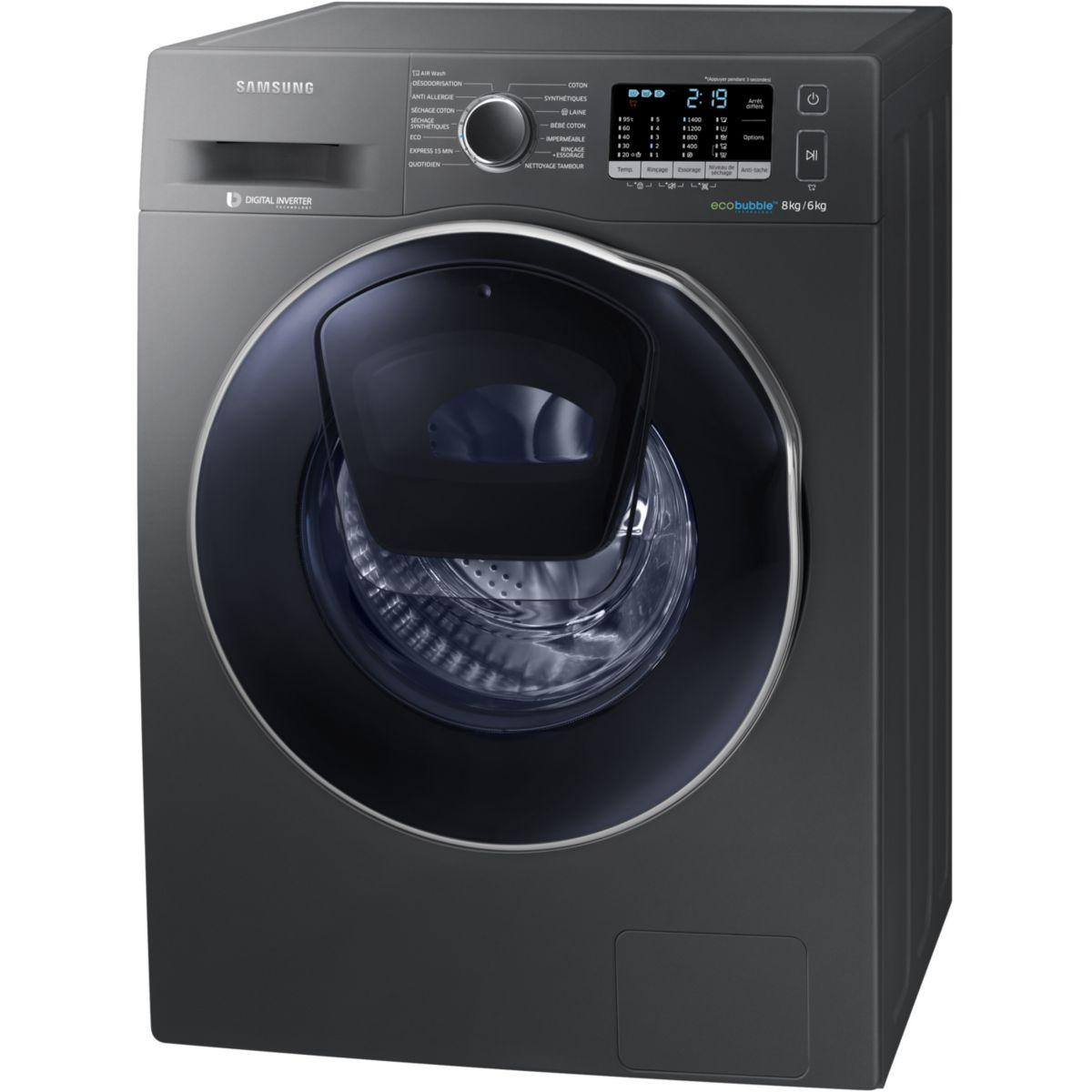 lave linge s chant frontal samsung ex addwash wd80k5410 o. Black Bedroom Furniture Sets. Home Design Ideas