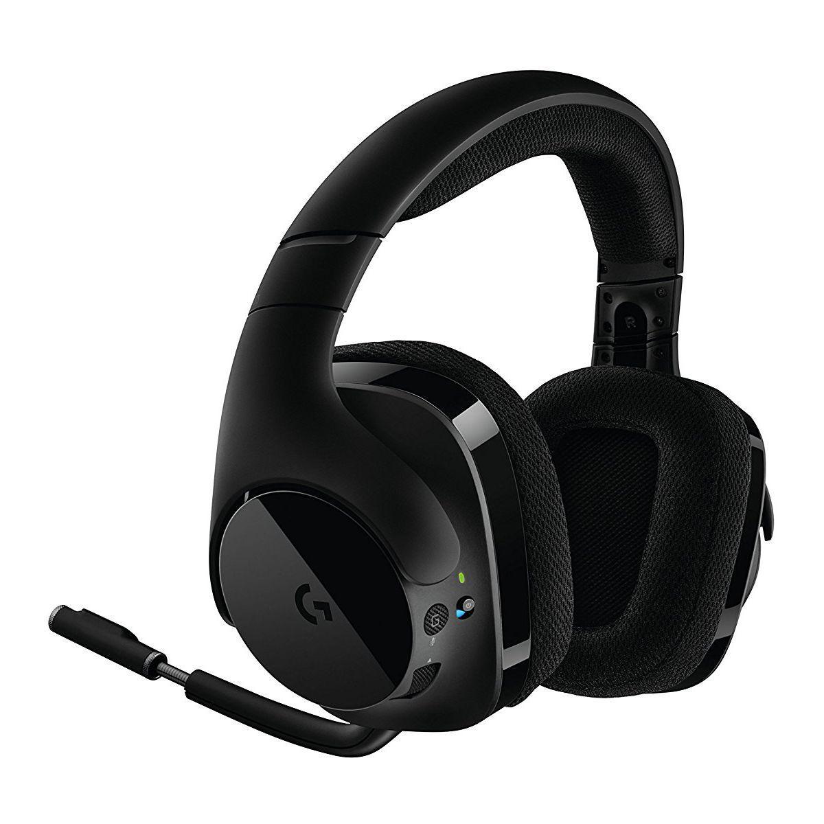 Kopfhörer Gaming Bluetooth mit Mikrophon Logitech G533 Wireless Gami - Schwarz