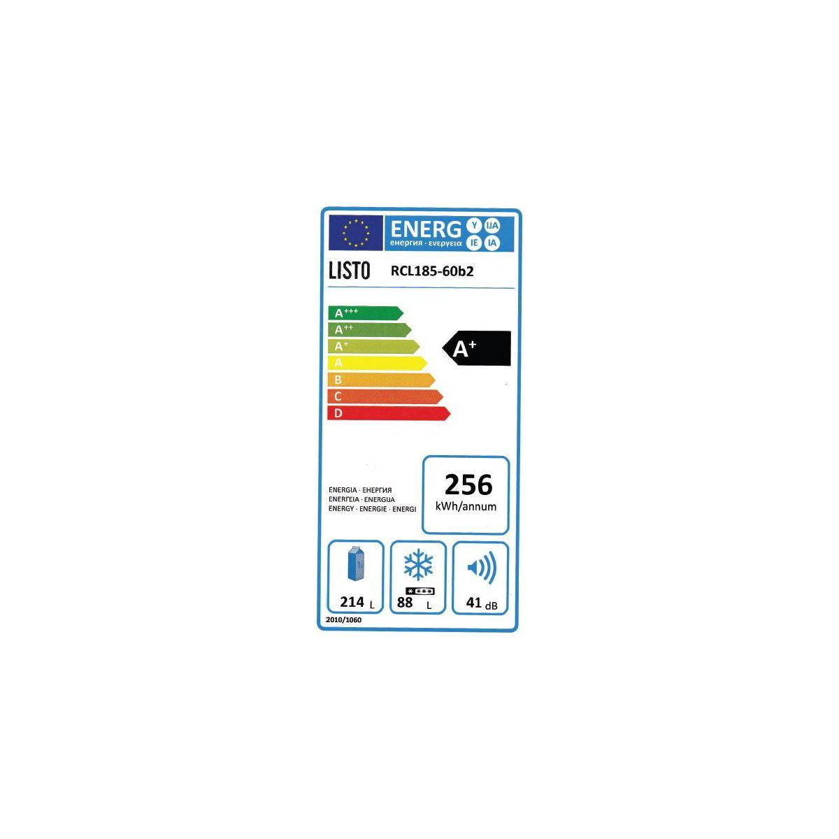 Réfrigérateur congélateur en bas LISTO RCL 185-60b2