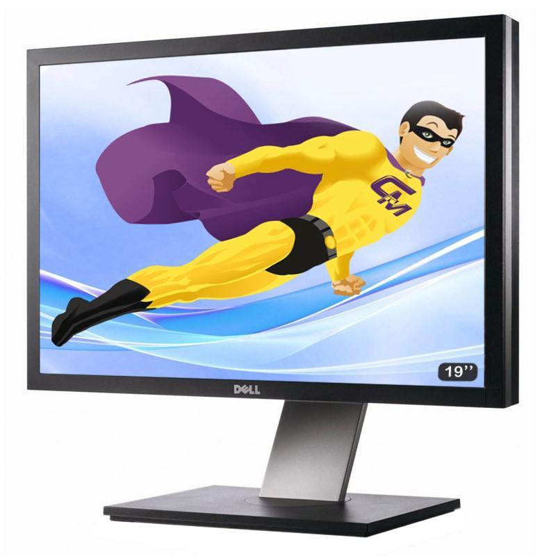 "Écran 19"" LCD Ecran Plat PC 19"" , LCD DELL P1911B 48cm 1440x900 R&eacute,glable DVI VGA HUB USB VESA"