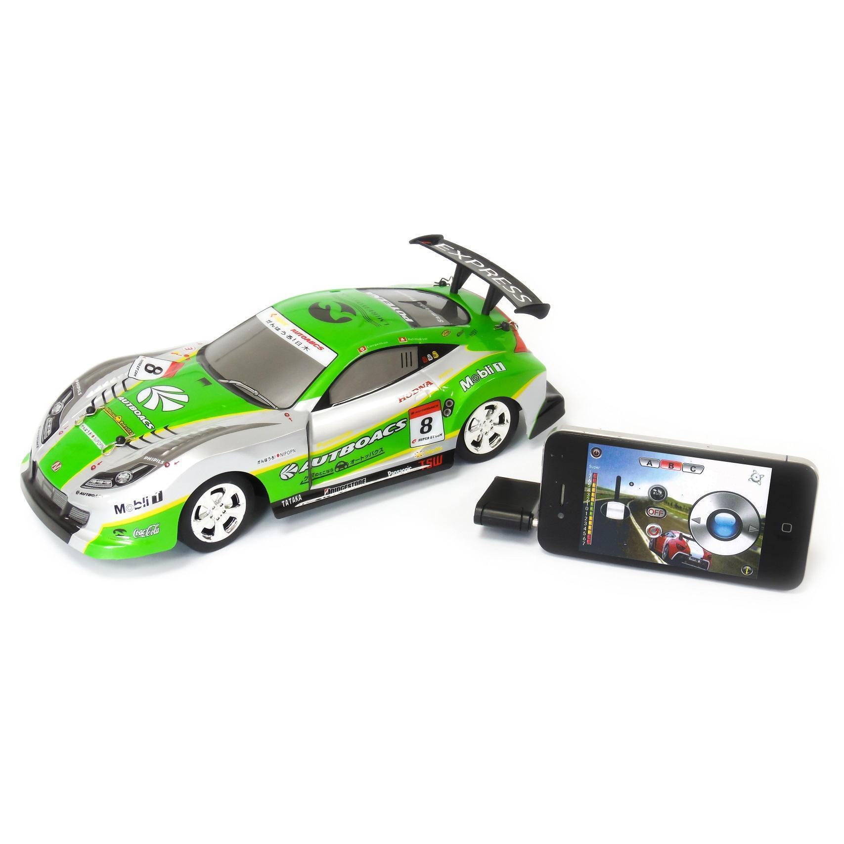Voiture Verte télécommandée pour appareils Apple et Android - M-Racer