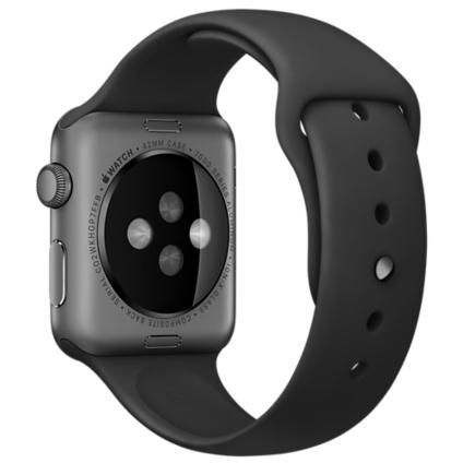 Apple Watch (Series 1) 38 - Aluminium Gris sidéral - Bracelet Sport Noir