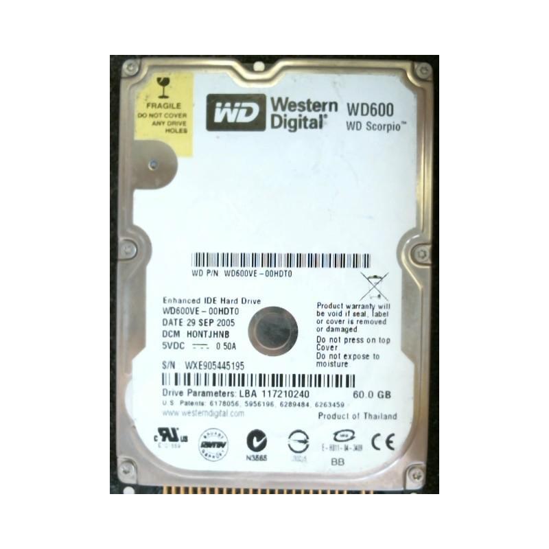 Disque dur interne 2,5'' 60 Go - Western Digital WD600VE-00HDT0