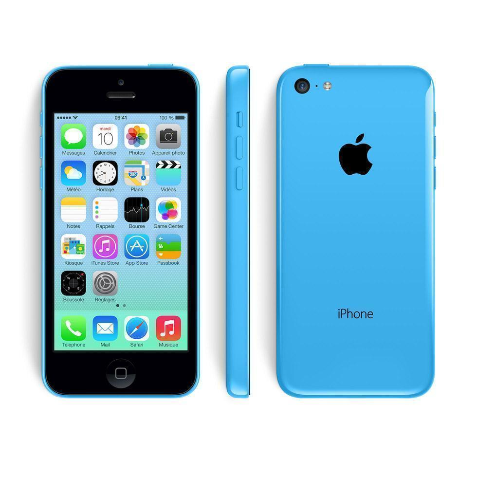 IPHONE 5C 16 GO BLEU SFR