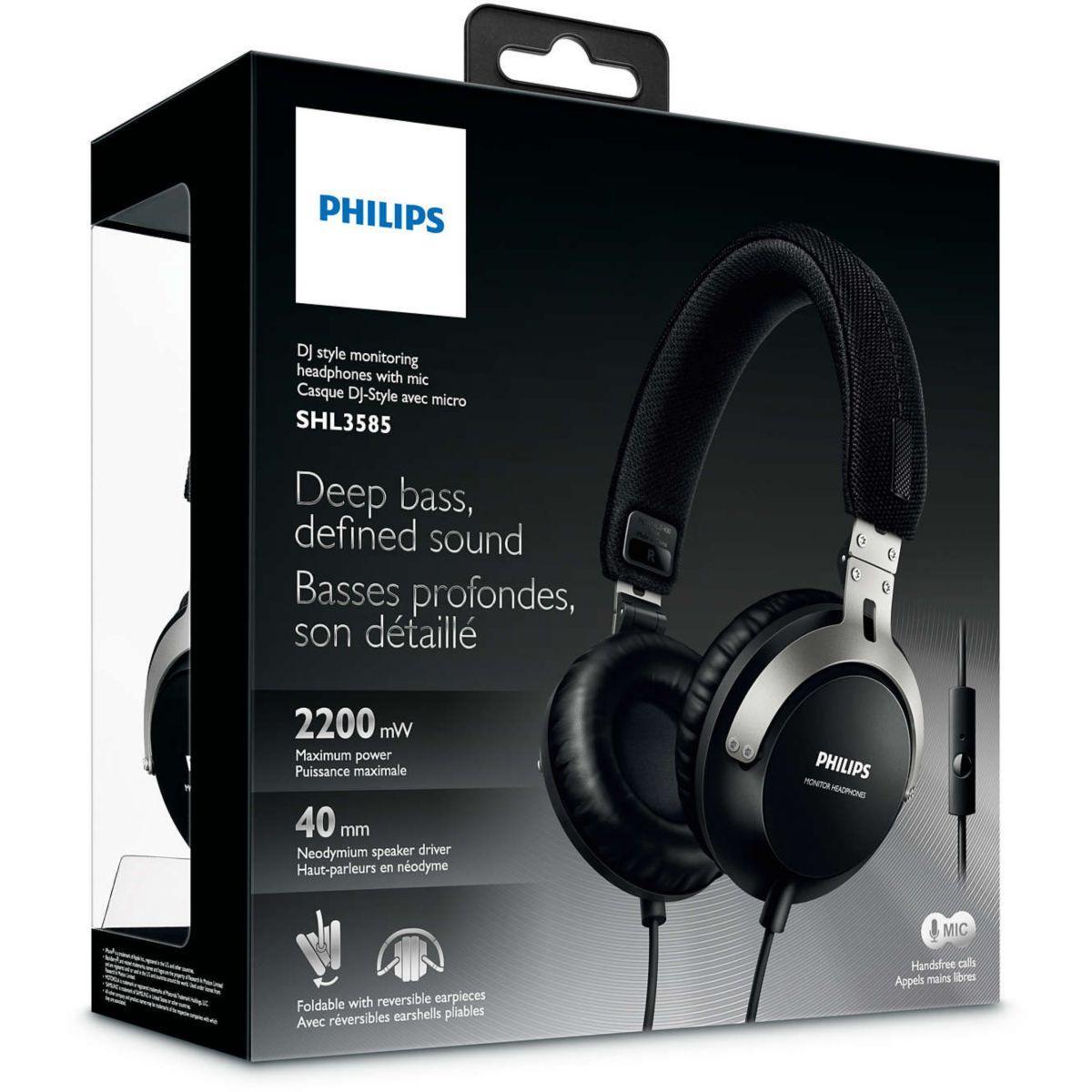 Casque      Philips SHL3585 - Noir