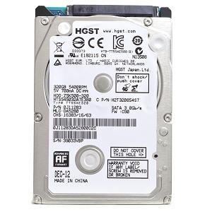 "Disque dur interne 2,5"" 320 Go Hitachi Travelstar Z5K500-320 HTS545032A7E380"