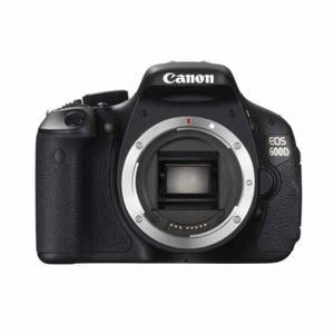 Cámara Reflex - Canon EOS 600D Sin objetivo - Negro