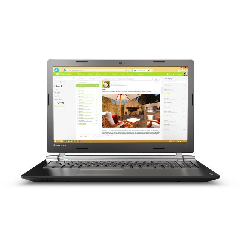 "Lenovo Ideapad 100-15IBY 15"" Celeron 2,16 GHz  - HDD 500 GB - 2GB AZERTY - Französisch"