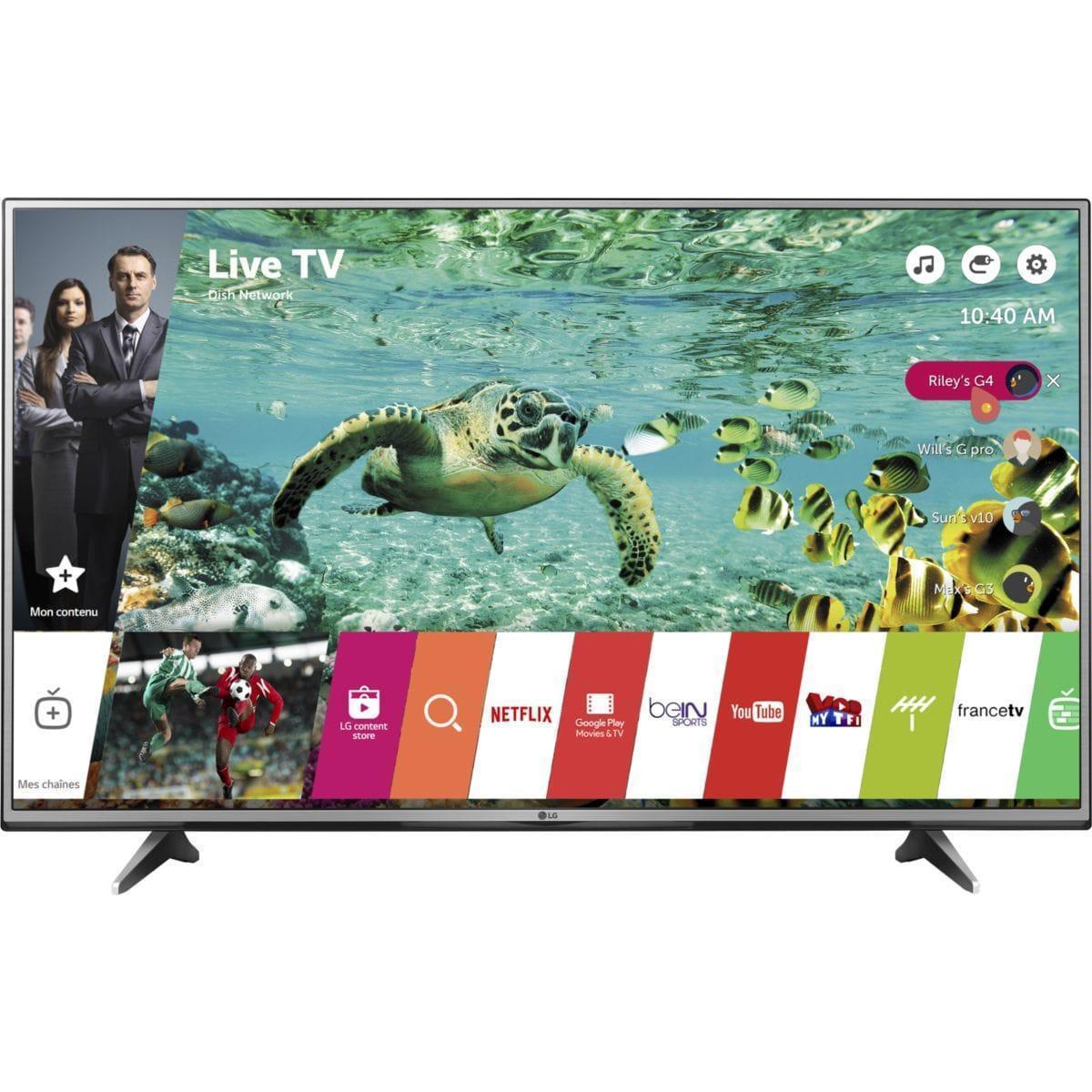 Smart TV LED 4K Ultra HD 139 cm LG 55UH615V