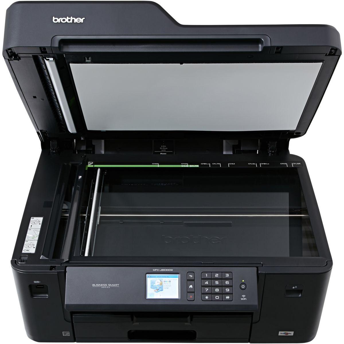 Multifunctionele inkjetprinter Brother MFC-J6530DW - Zwart