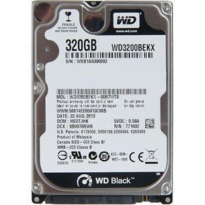 "Disque Dur interne 2.5"" 320Go - WESTERN DIGITAL WD3200BEKT-75PVMT1"