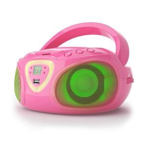 Radio AM/FM Bluetooth Auna Roadie Boombox - Rosa