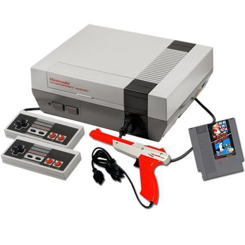 Nintendo NES Action Set + 2 Ohjaimien + Super Mario Bros + Duck Hunt - Valkoinen