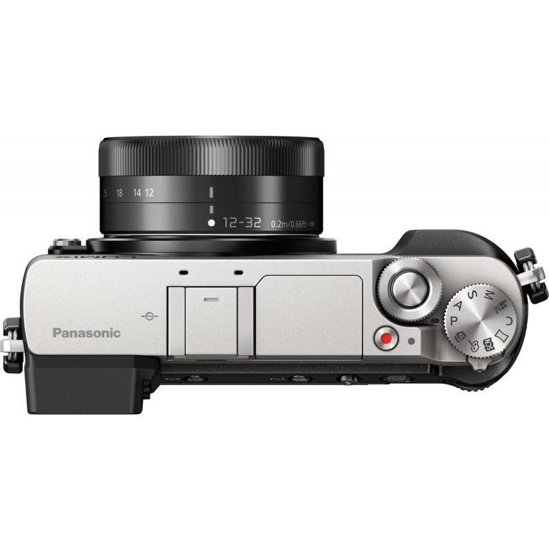 Hybride - Panasonic Lumix DMC-GX80 Argent/Noir Panasonic Lumix G Vario HD 12-32mm F3.5-5.6 Mega OIS + Lumix G X Vario 35-100mm F2.8 II Power OIS