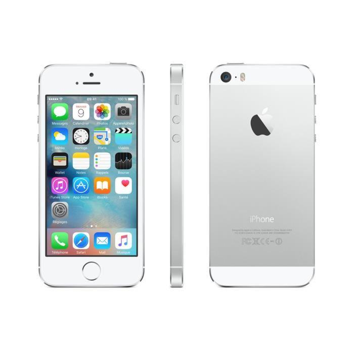 iPhone 5S 16 GB - Silber - Orange