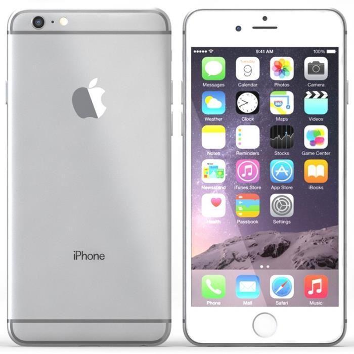 iPhone 6 Plus 64 Go - Argent - Orange