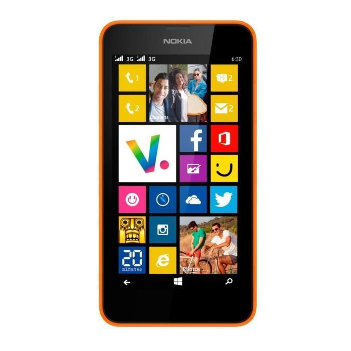 Nokia Lumia 630 Dual Sim - Orange- Ohne Vertrag