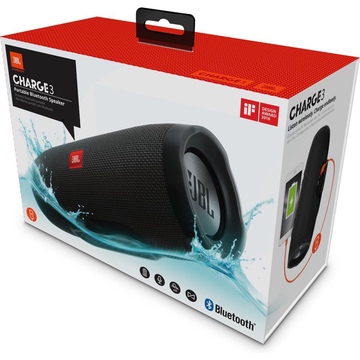 Lautsprecher  Bluetooth Jbl Charge 3 - Schwarz