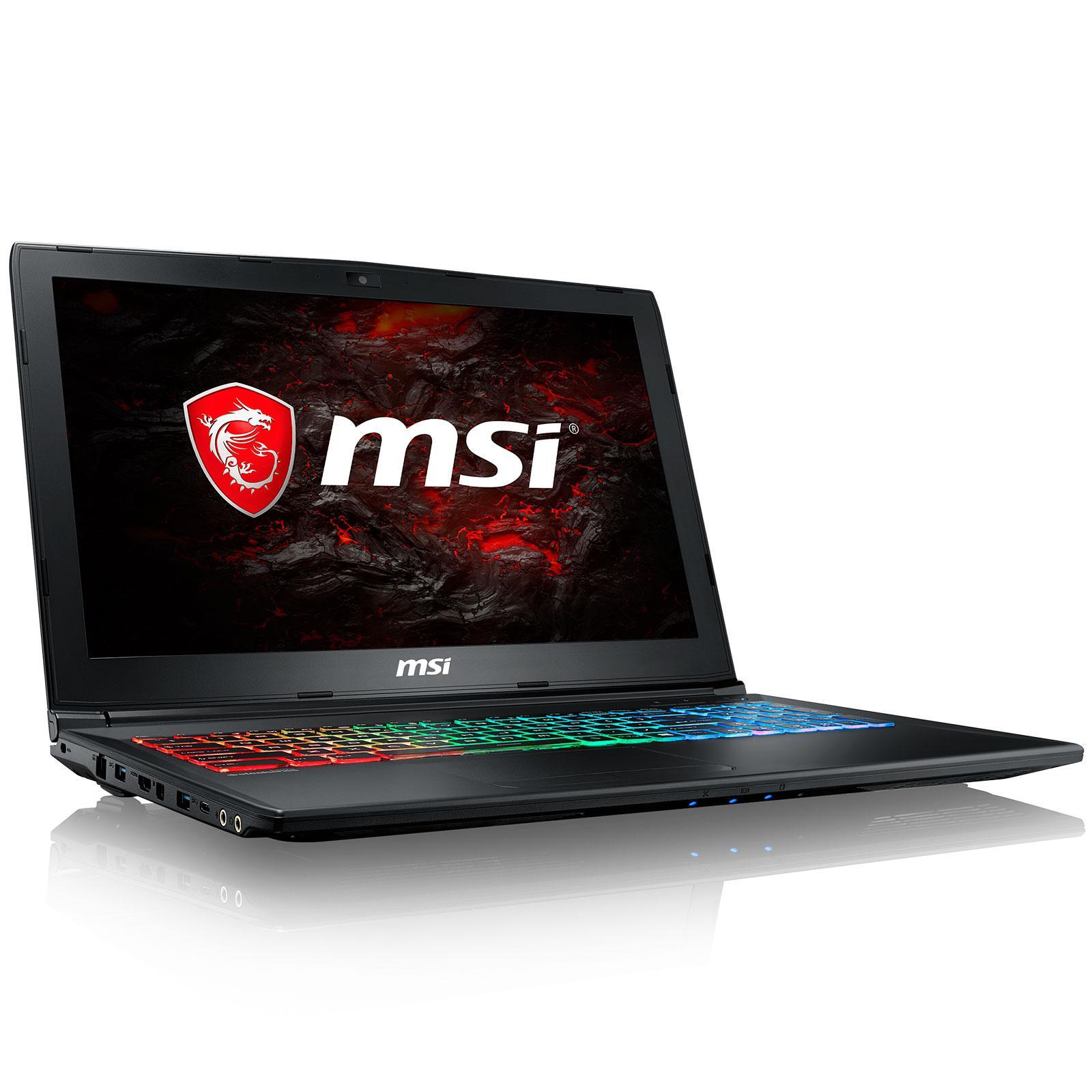 "MSI GP62MVR 7RFX-1058FR Leopard Pro 15"" Core i5 2,5 GHz - SSD 128 Go + HDD 1 To - 8 Go - NVIDIA GeForce GTX 1060 AZERTY - Français"