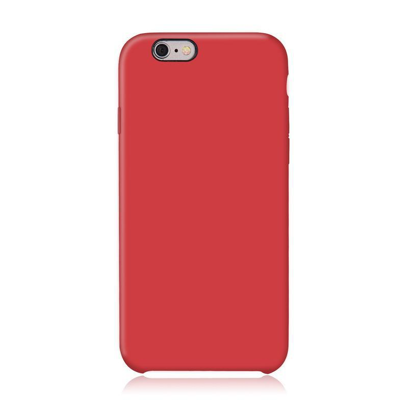 Case and 2 protective screens iPhone 6 Plus/6S Plus - Silicone - Red