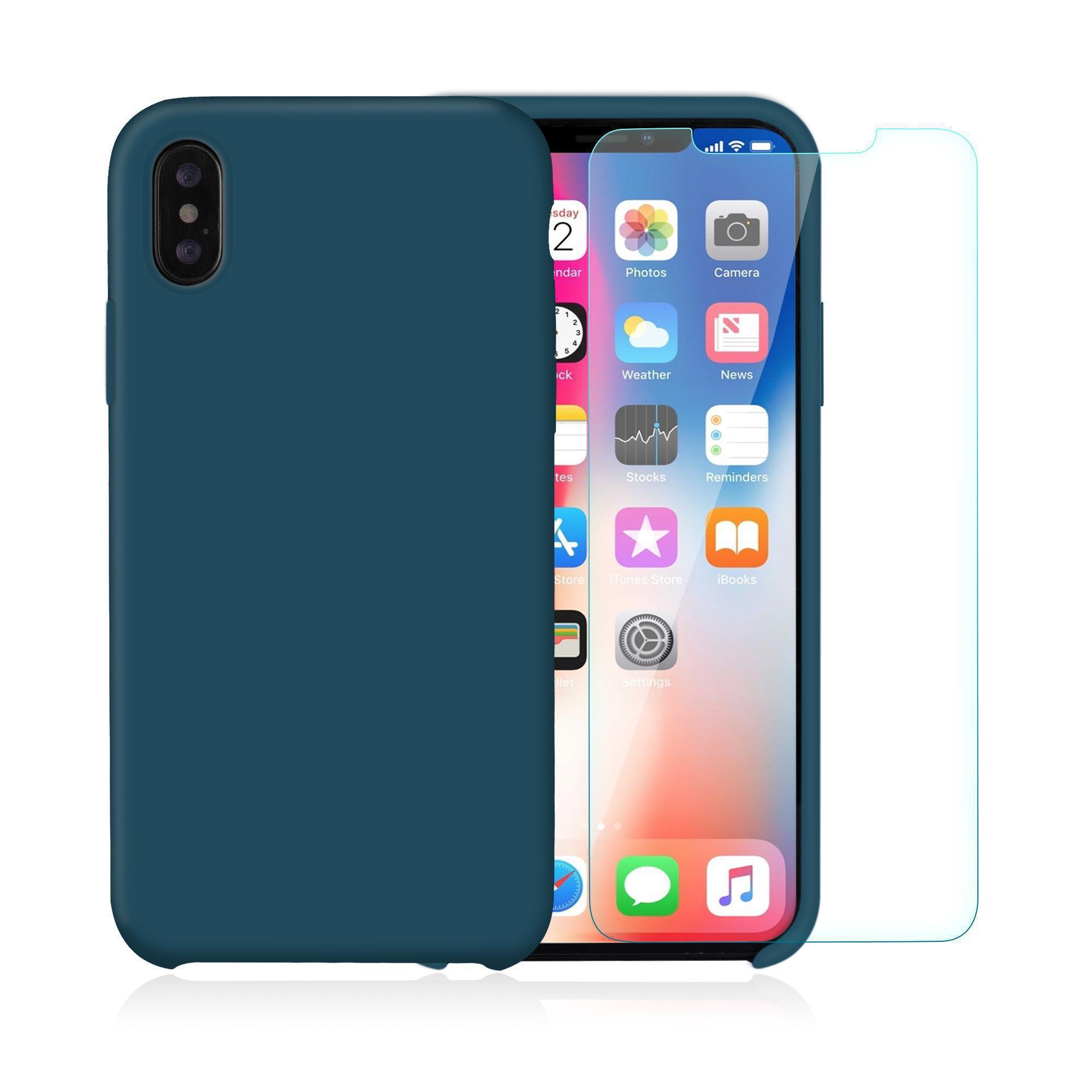 coque iphone x bleu canard