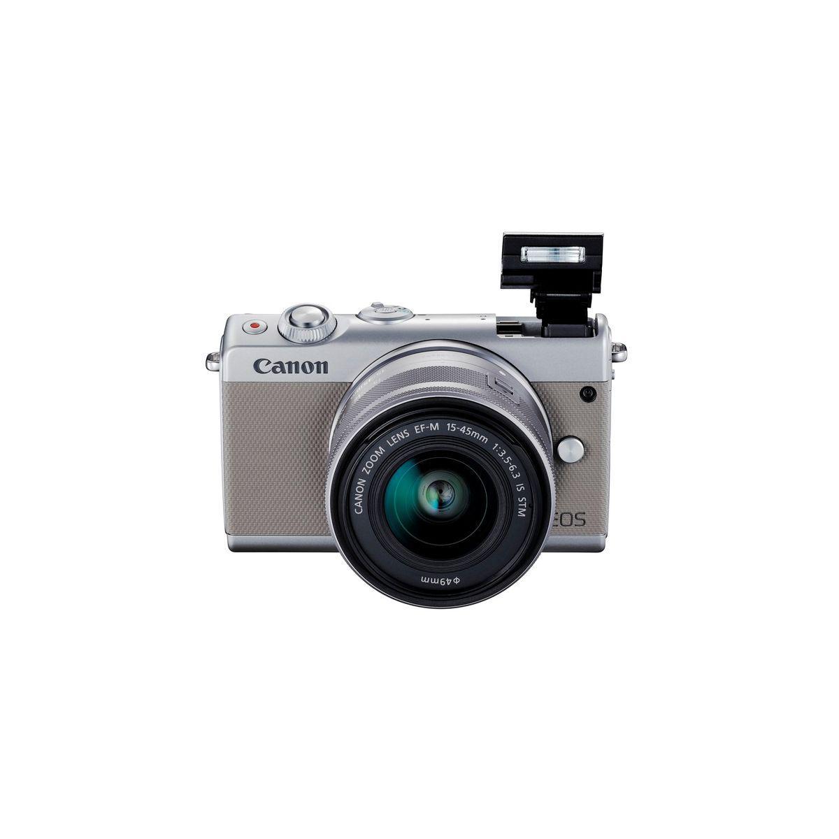 Hybride - Canon EOS M100 - Gris + Objectif 15-45mm