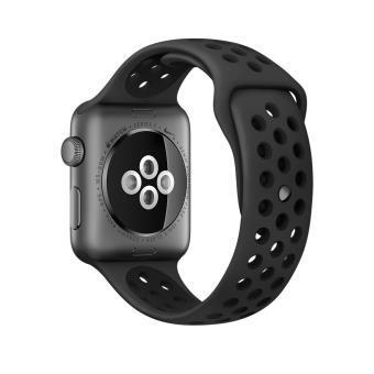 Apple Watch (Series 2) 42 mm - Aluminium Gris sidéral - Bracelet Sport Nike Noir