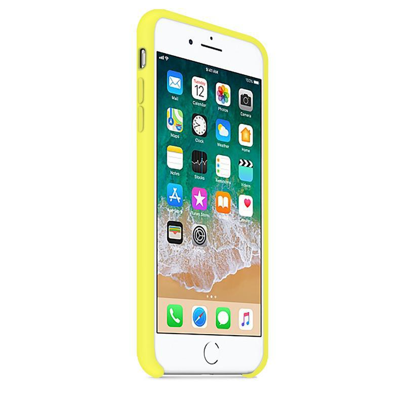 Case and 2 protective screens iPhone 6 Plus/6S Plus - Silicone - Yellow