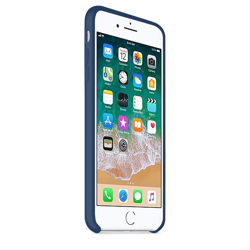 Case and 2 protective screens iPhone 6 Plus/6S Plus - Silicone - Cobalt blue