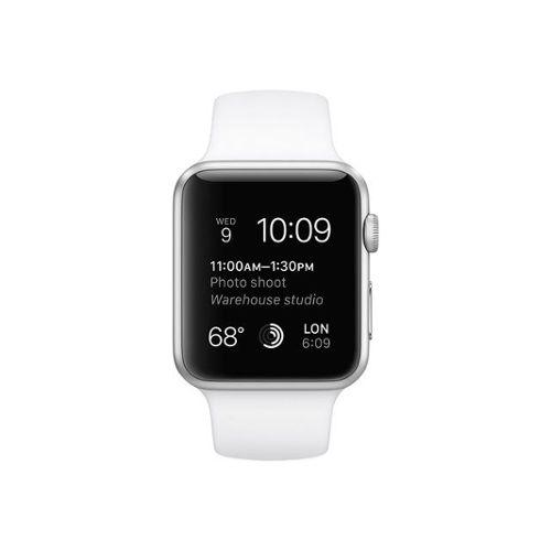 Apple Watch (Series 3) 38 mm - Aluminium Argent - Bracelet Sport Blanc
