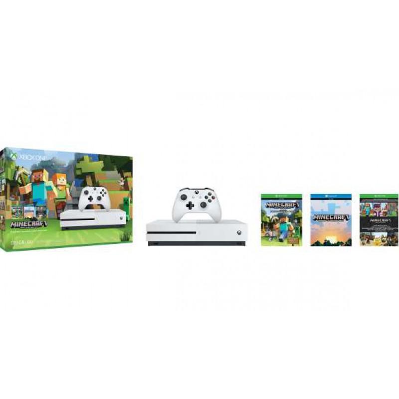 Console Xbox One S - 500 Go + Jeu Minecraft