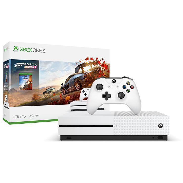 Console Microsoft Xbox One S 1 To + Manette + Forza Horizon 4 - Blanc