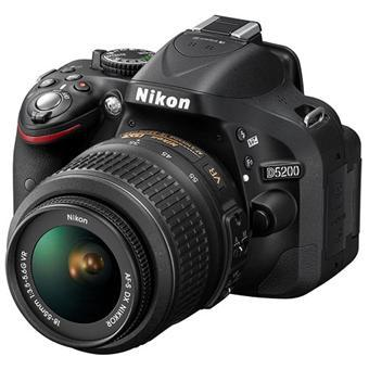 Reflex - Nikon D5200 - Nero + Lente 18-55 mm