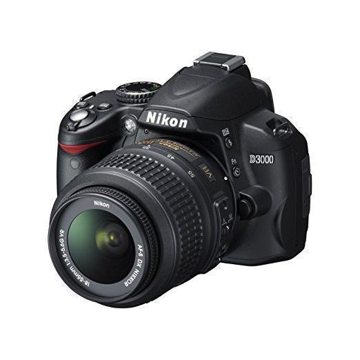 Reflex - Nikon D3000 - Noir + Objectif Nikon AF-S DX 18-55 mm f/3.5-5.6 G VR