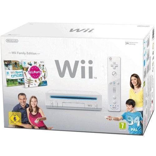 Videopelikonsolit Nintendo Wii Family Edition 0.5 GB + Ohjain + Wii Sports + Wii Party - Valkoinen