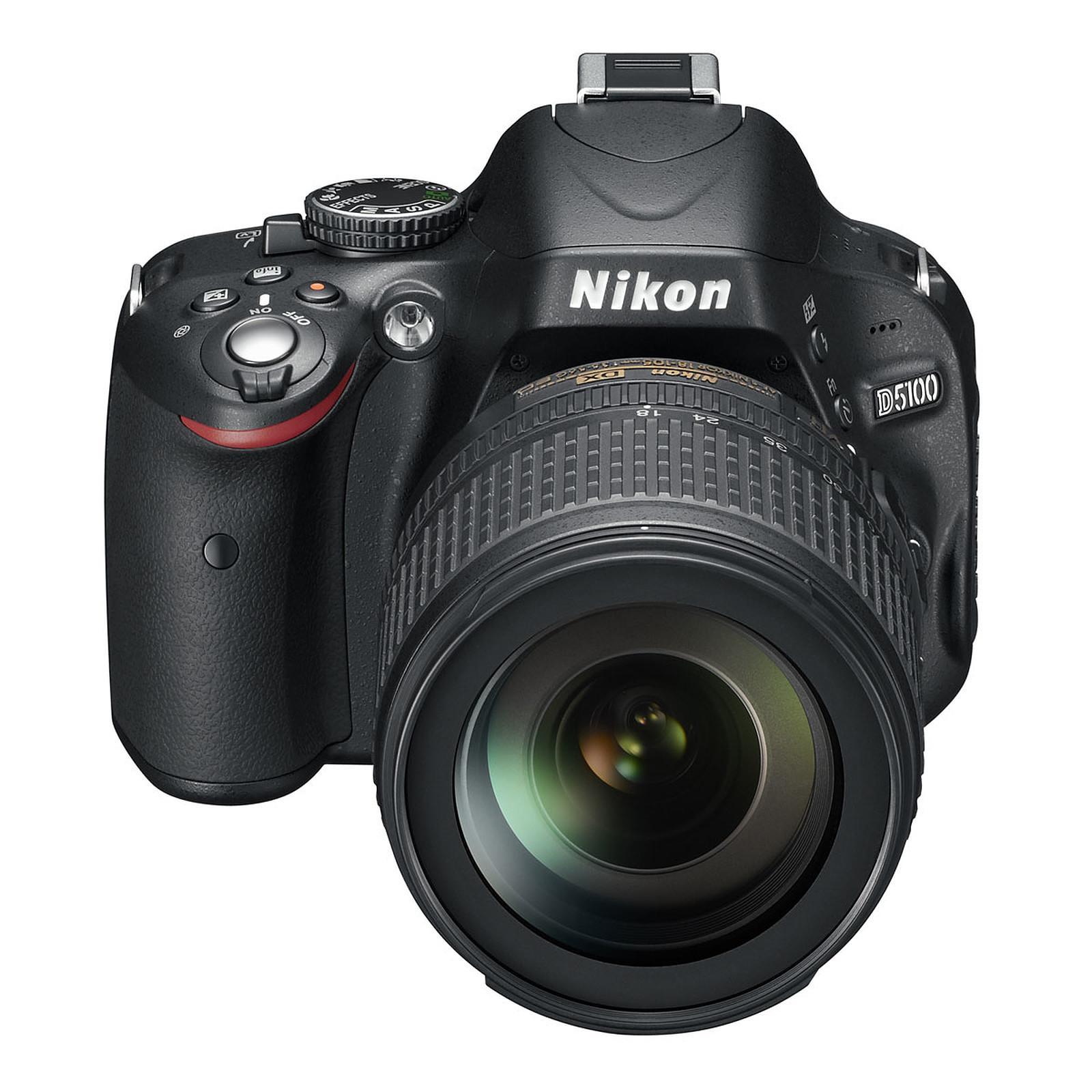 Reflexe - Nikon D5100 - Noir + Objectif Nikon AF-S DX Nikkor 18-105mm 1:3,5-5,6G ED VR